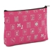 Mah Jongg Fuchsia Logo Pattern 3 Zipper Mah Jong Purse for Mahjong Card - 132712