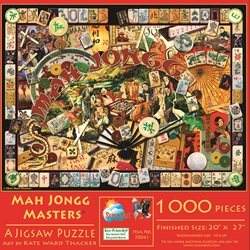 Mah Jongg Masters Collage 1000 piece Jigsaw Puzzle mah jongg jigsaw puzzle