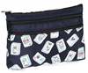 Mah Jongg Navy Blue Multi Color Tiles 3 Zipper Mah Jong Purse for Mahjong Card Mah Jongg Card, Mah Jong Card, Mah Jong Scorecard, Mah Jongg Scorecard, Mah Jong Purse, MJ Purse, Mah Jong Scorecard Purse, Mah Jong Case, MJ Bag, Mah Jongg Accessories, Mah Jong Gift, mahjongg, Designer Mah Jong, Mah Jong Soft Bag, mahjong