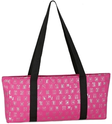 Fuchsia (Pink) & Silver Designer Mah Jongg Set Soft Carrying Case (Case Only) mahjong bag, mah jong bag, mah jongg bag, mahjongg bag, mah jongg case