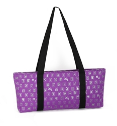 Purple & Silver Designer Mah Jongg Set Soft Carrying Case (Case Only) mahjong bag, mah jong bag, mah jongg bag, mahjongg bag, mah jongg case