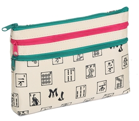 Mah Jongg Beige 3 Zipper Mah Jong Purse for Mahjong Card Mah Jongg Card, Mah Jong Card, Mah Jong Scorecard, Mah Jongg Scorecard, Mah Jong Purse, MJ Purse, Mah Jong Scorecard Purse, Mah Jong Case, MJ Bag, Mah Jongg Accessories, Mah Jong Gift, mahjongg, Designer Mah Jong, Mah Jong Soft Bag, mahjong